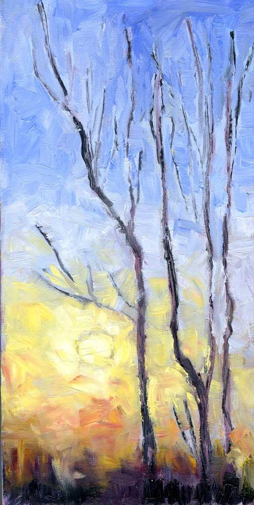 """Roy's Trees"" original fine art by Eileen Hennemann"