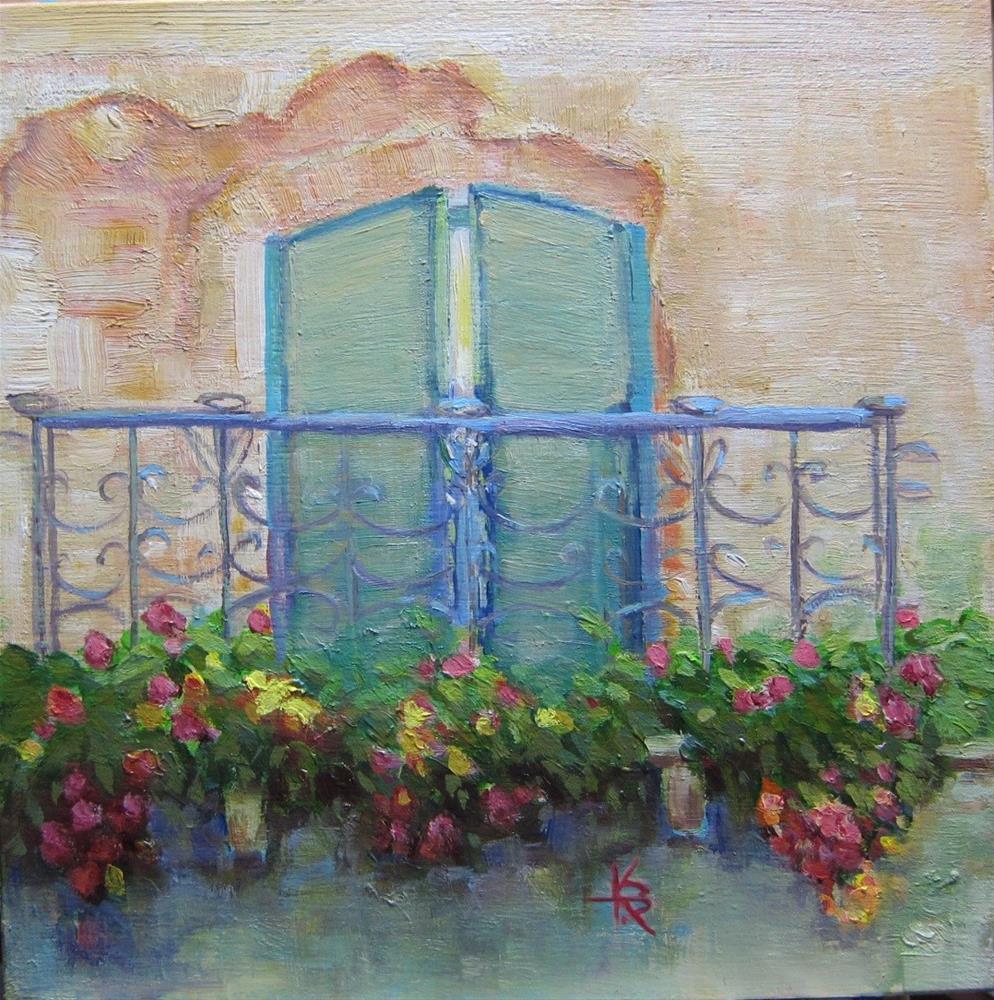 """Tuscany Terrace"" original fine art by Kathy Bodamer"