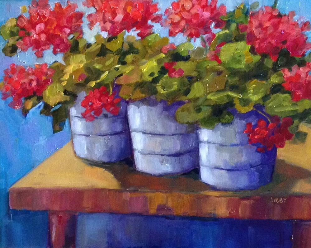 """""""Power of Red"""" original fine art by Libby Anderson"""