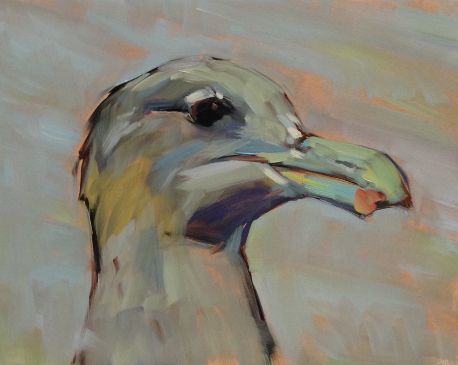 """G is for Gretha Gull"" original fine art by Patti McNutt"