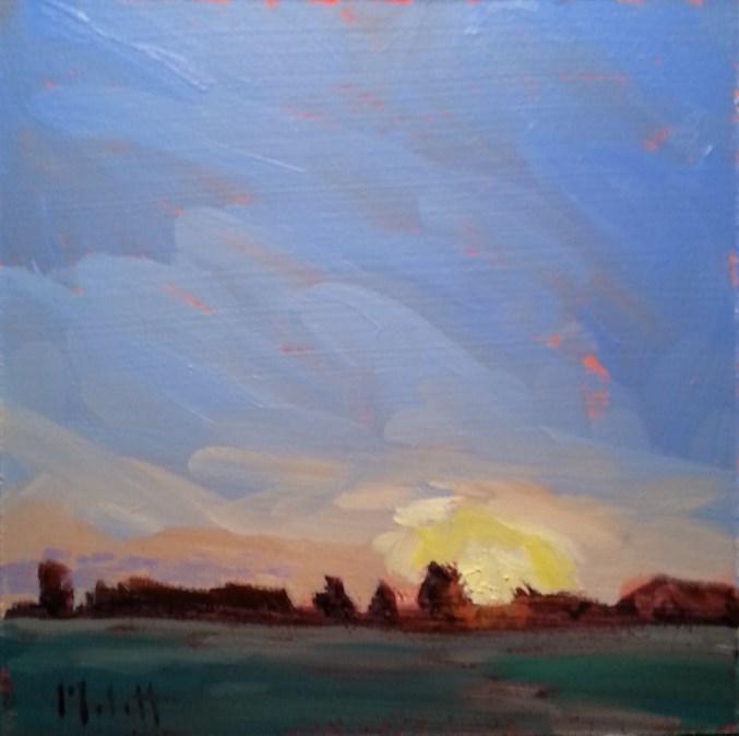 """Autumn Blaze Sunset Landscape Oil Painting Impressionism"" original fine art by Heidi Malott"