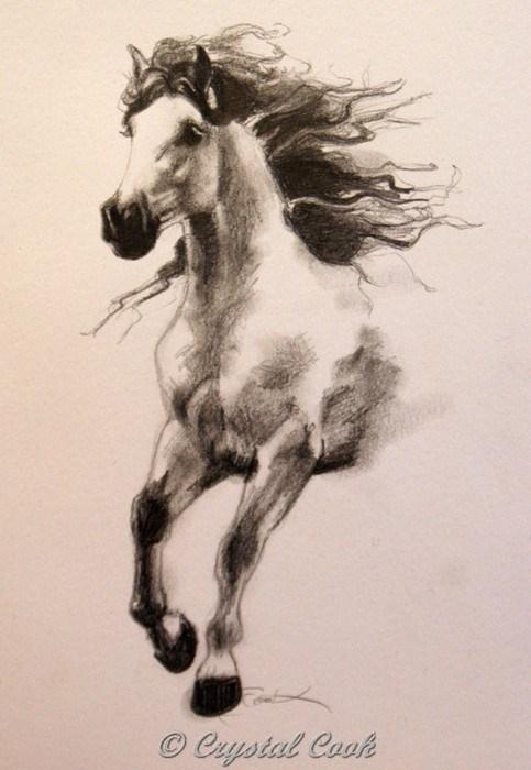 """In Flight"" original fine art by Crystal Cook"