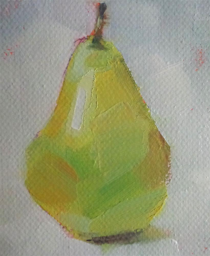 """Pear"" original fine art by Maria Z."