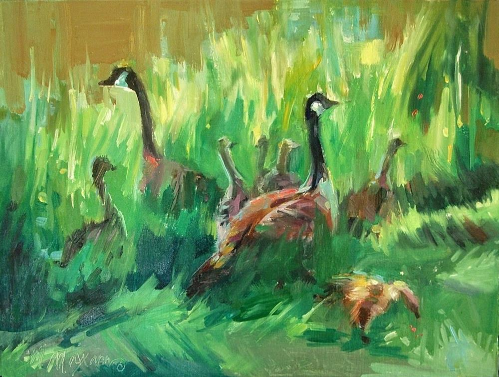 """Still Watchful"" original fine art by Mary Maxam"