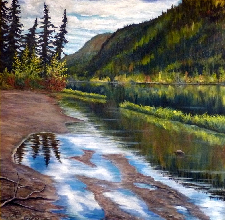 """Fisheye Lake, Fall Reflections"" original fine art by Jackie Irvine"