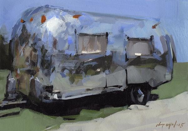 """Airstream"" original fine art by David Lloyd"