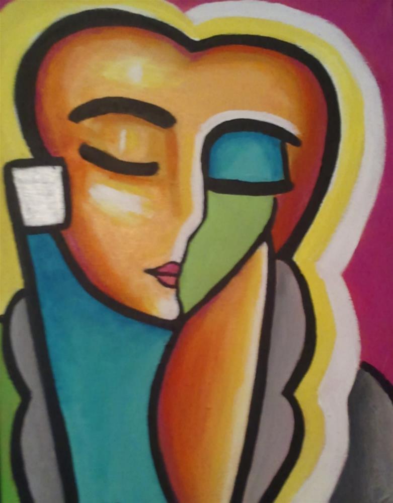 """""""Pablo's Pretty Lady"""" original fine art by Stuart Glazer"""
