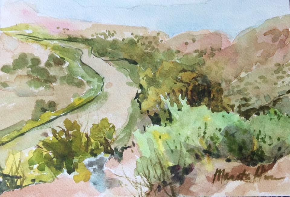 """""""Rio Grande"""" original fine art by Marita Hines"""