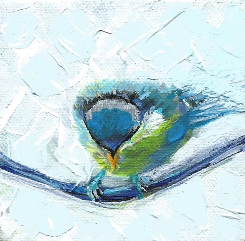"""5012 - Baby Blue III - Deep Wrap Canvas"" original fine art by Sea Dean"