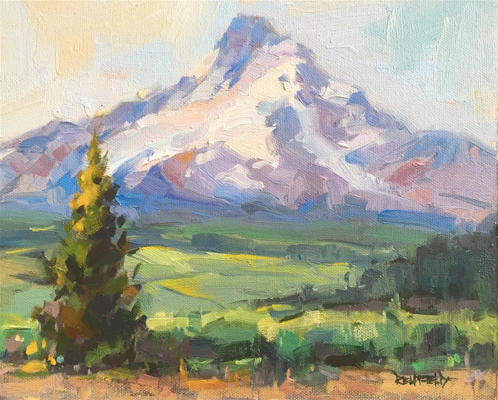 """Mt Hood, en Plein Air"" original fine art by Cathleen Rehfeld"