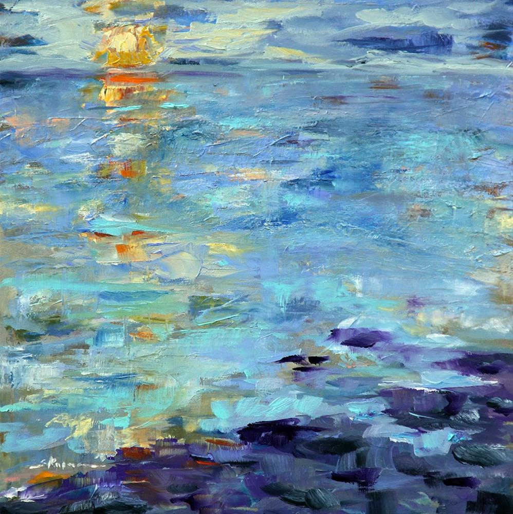 """Maine Abstract"" original fine art by Shelley Koopmann"