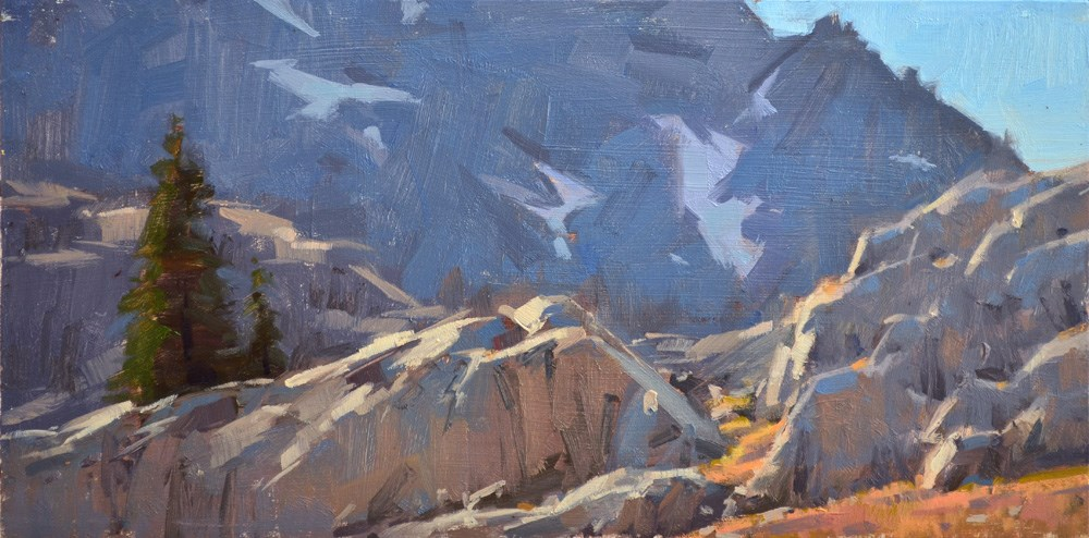 """Tree Rock Mountain"" original fine art by Carol Marine"