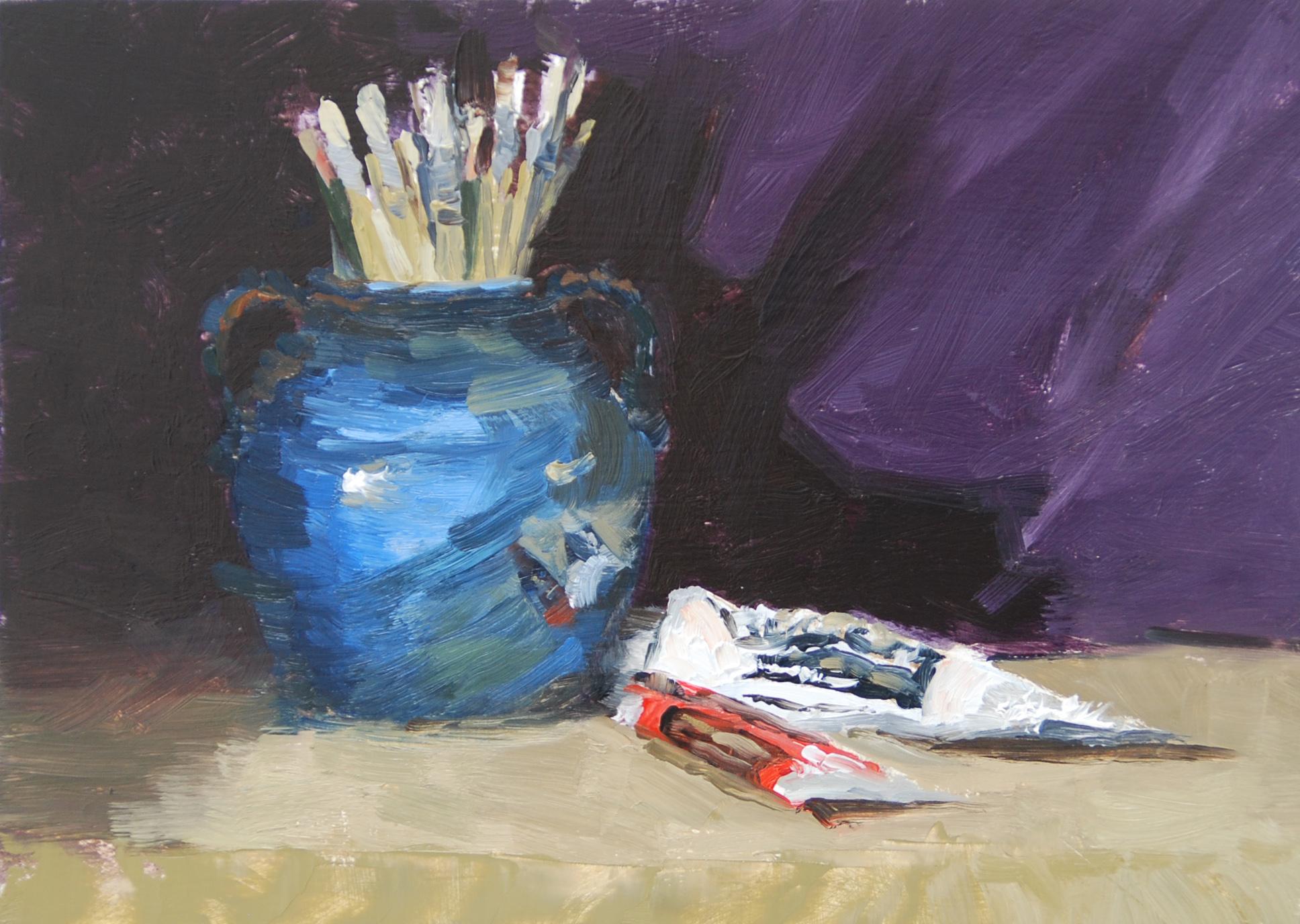 """""""Red, White, and Blue"""" original fine art by Liz Abeyta"""