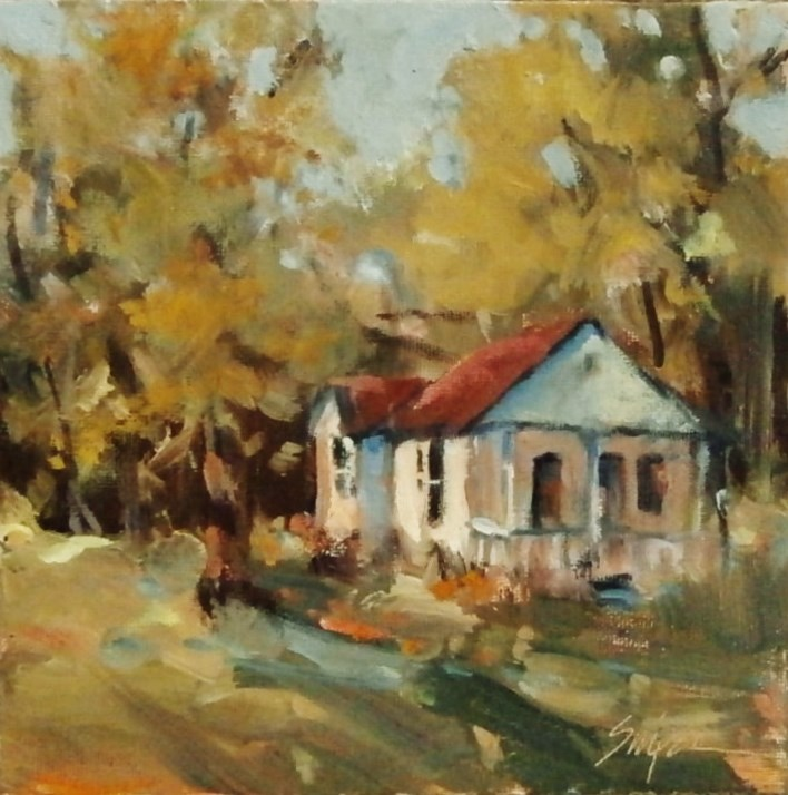 """""""Sunshine on the House"""" original fine art by Connie Snipes"""