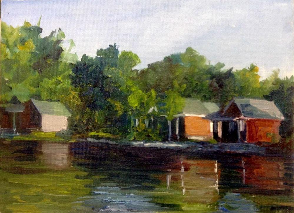 """""""Summer Rentals"""" original fine art by Cathy Boyd"""