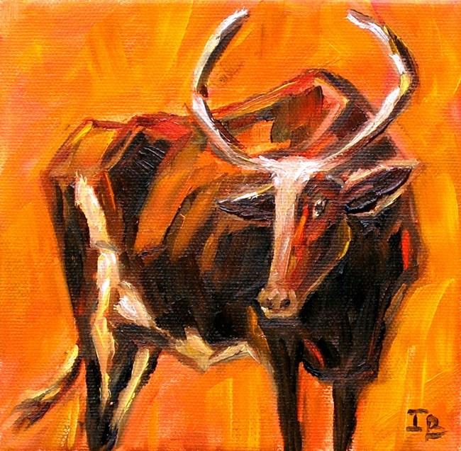 """""""Bull"""" original fine art by Irina Beskina"""