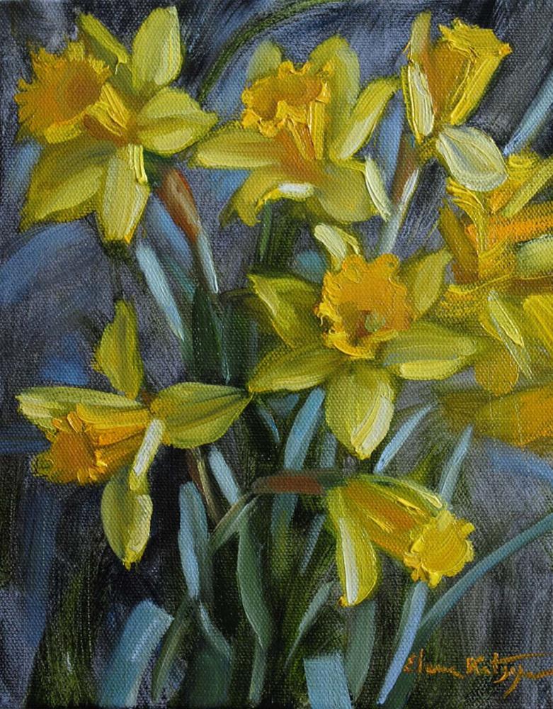 """Spring in Winter"" original fine art by Elena Katsyura"