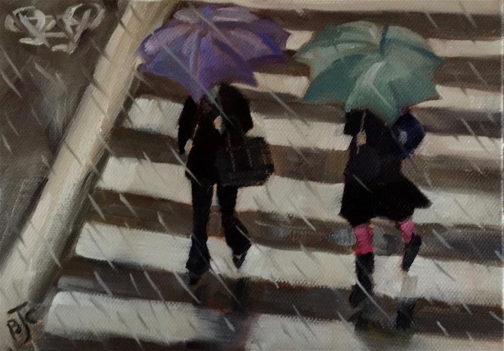 """Early Morning Rain"" original fine art by Bobbie Cook"