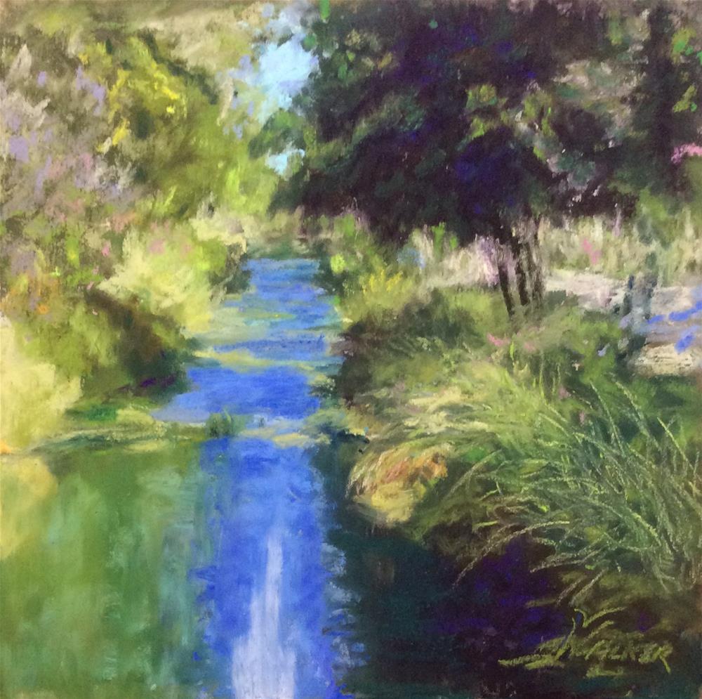 """THE CANAL PATH"" original fine art by Marti Walker"