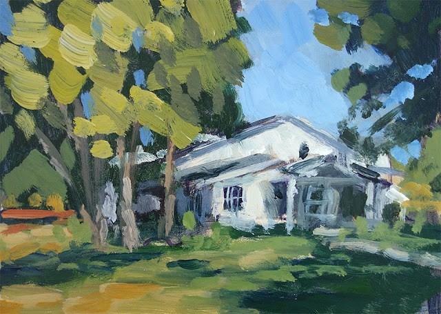 """Sonoma House"" original fine art by J. Farnsworth"