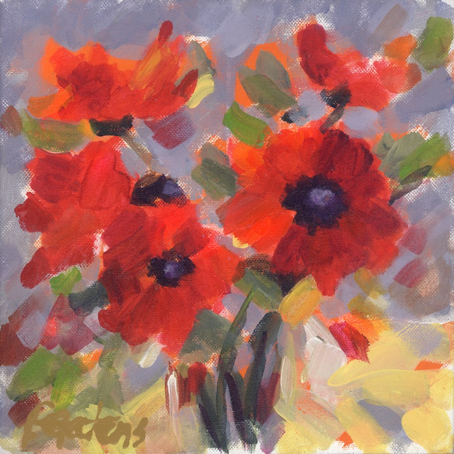 """Poppy Petite"" original fine art by Pamela Gatens"