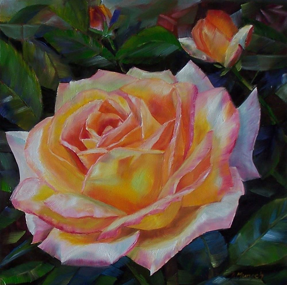 """""""Big Rose"""" original fine art by Donna Munsch"""