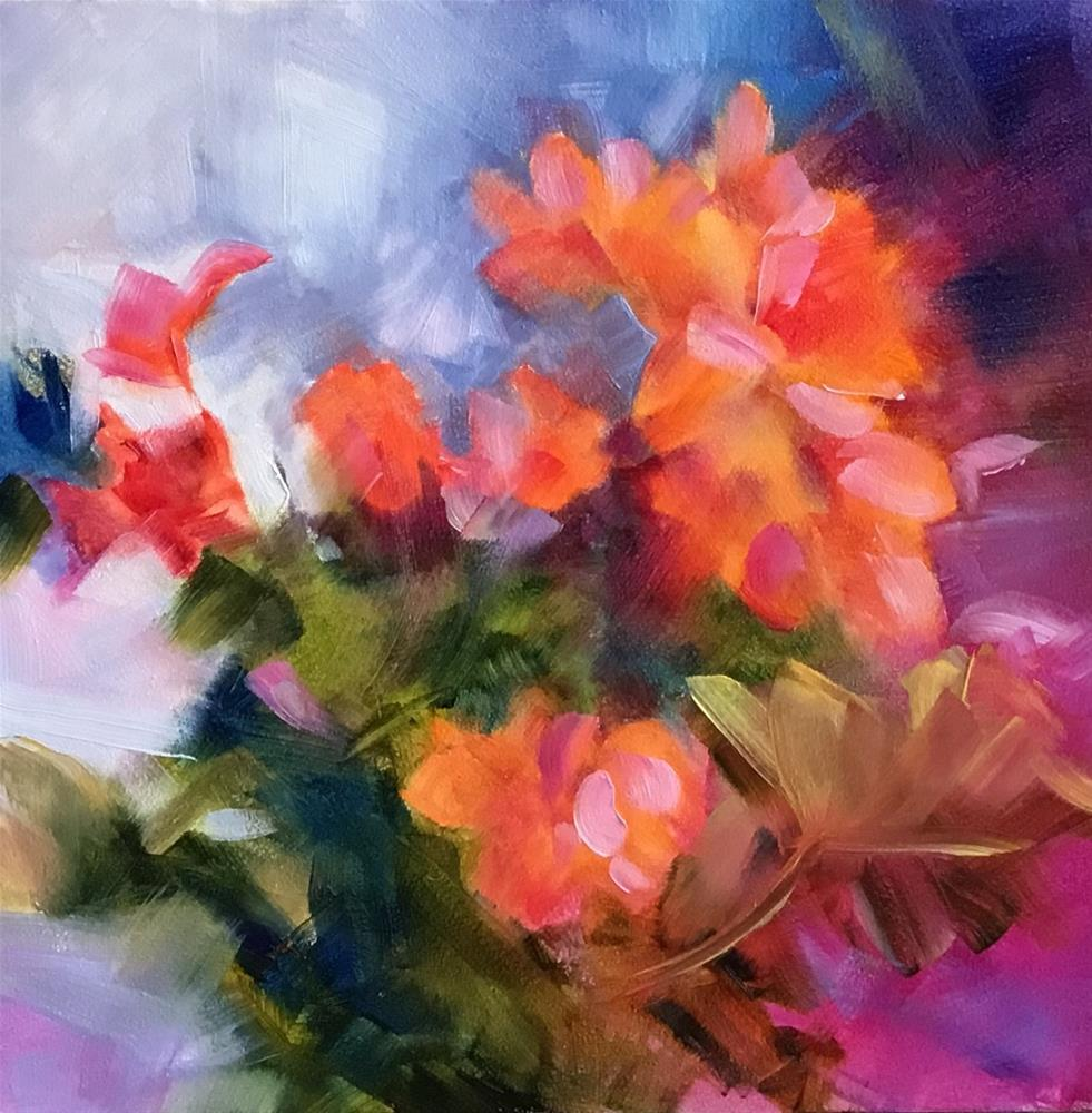 """Geraniums"" original fine art by Charlotte Fitzgerald"