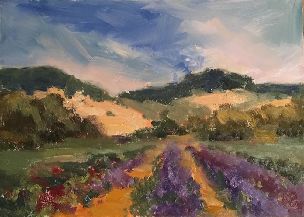 """U-Pick Flower Farm"" original fine art by Victoria  Biedron"