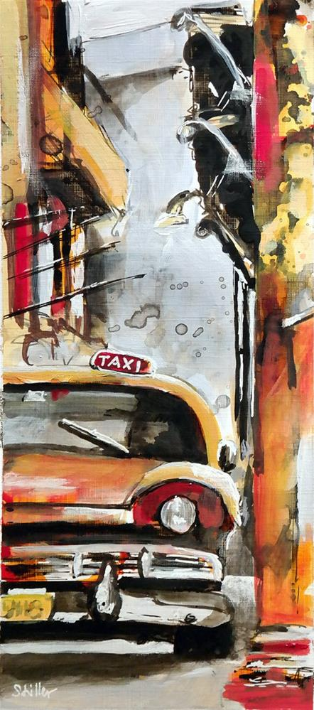 """2779 Taxi Taxi"" original fine art by Dietmar Stiller"