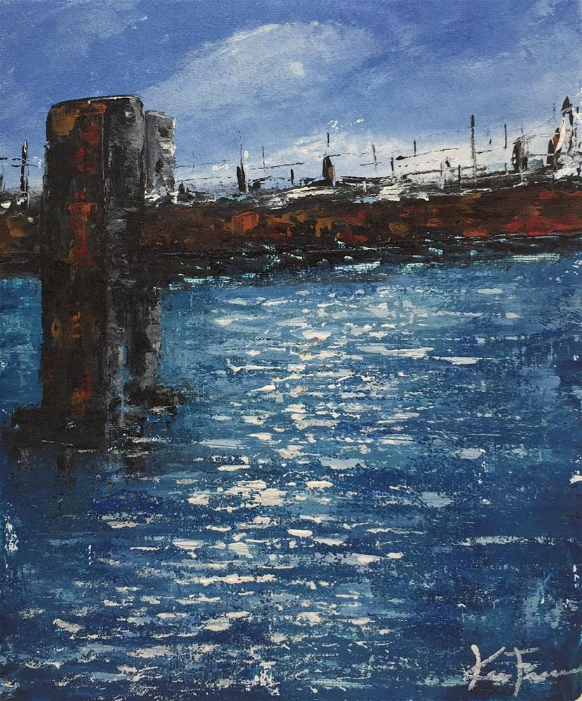 """City Bridge"" original fine art by Ken Fraser"