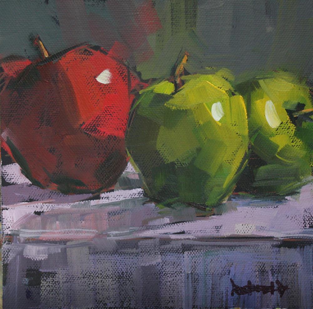 """Apples"" original fine art by Cathleen Rehfeld"