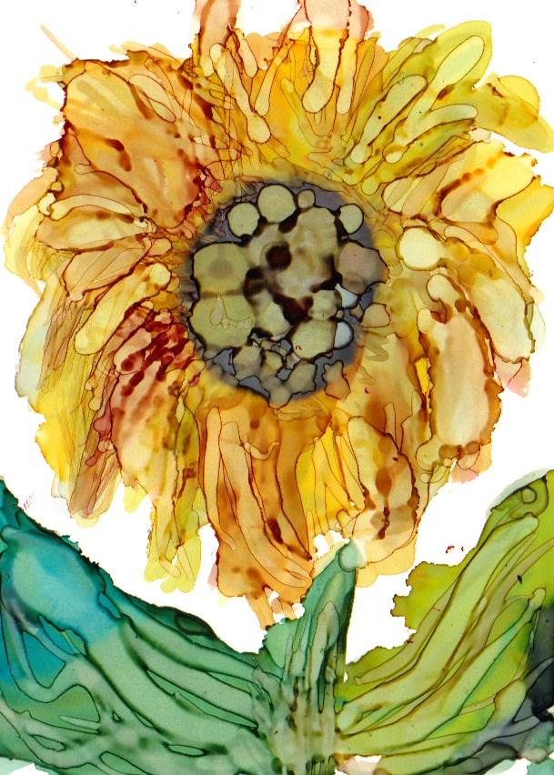 """""""Sunflower 1"""" original fine art by Kristen Dukat"""