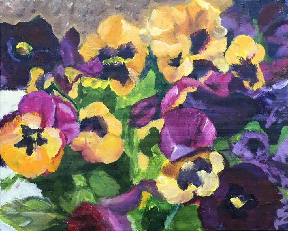 """Pansy Study"" original fine art by Renee Robison"