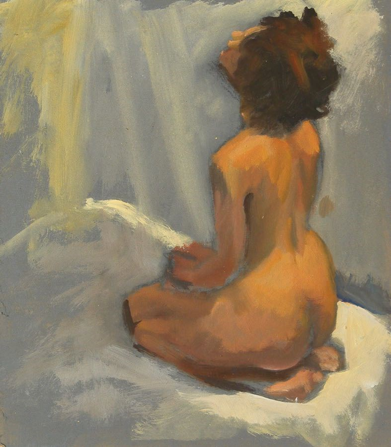 """Kneeling"" original fine art by Peter Orrock"