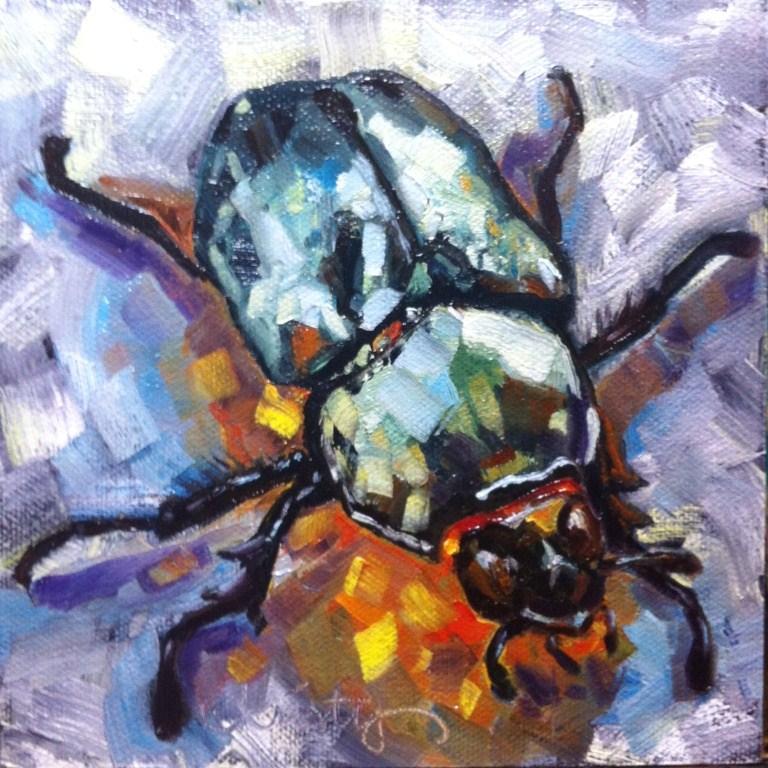 """""""BRANDON'S BEETLE"""" original fine art by Kristy Tracy"""