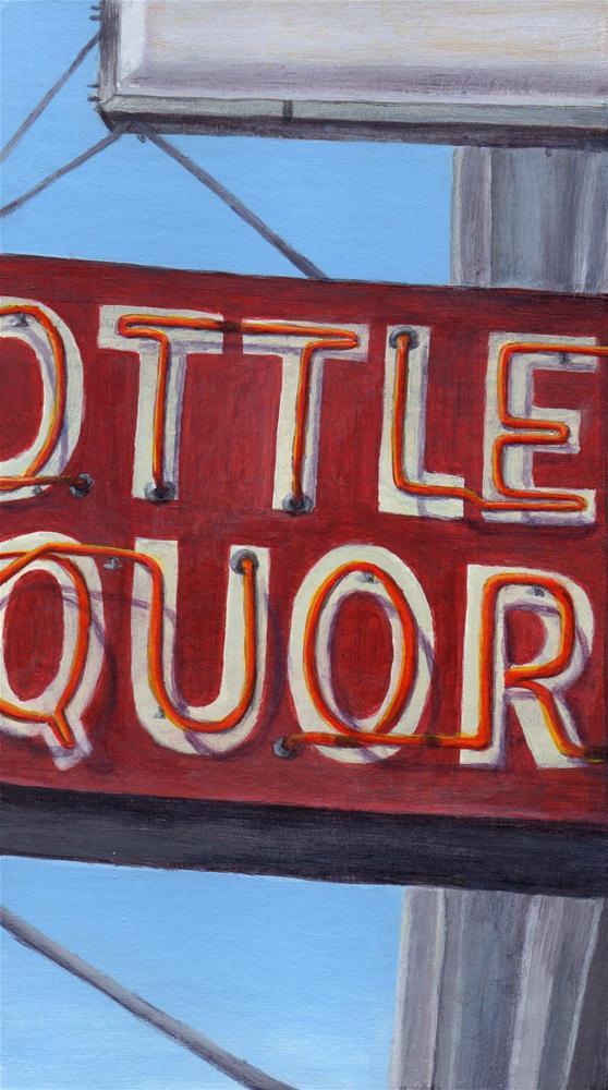 """Bottled Liquors 2"" original fine art by Debbie Shirley"