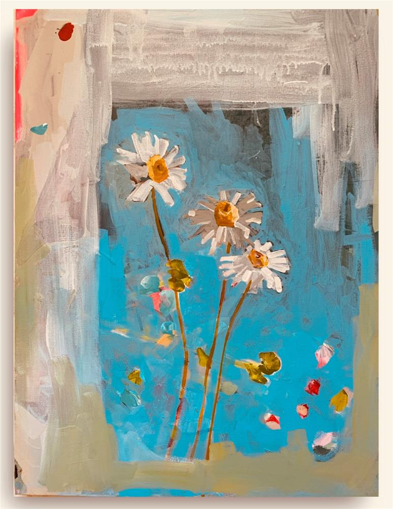 """762 Family of Daisies"" original fine art by Jenny Doh"