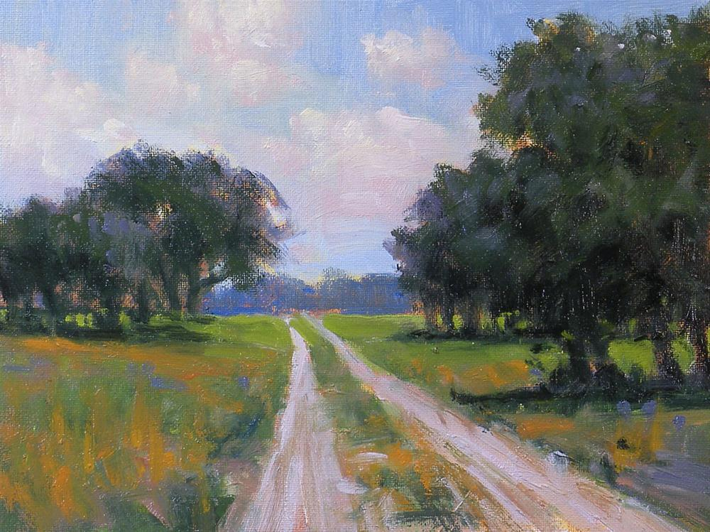 """""""Down the Road"""" original fine art by David Forks"""
