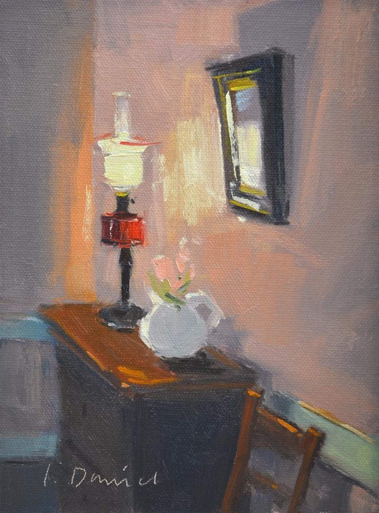 """""""Ruby Lamplight"""" original fine art by Laurel Daniel"""