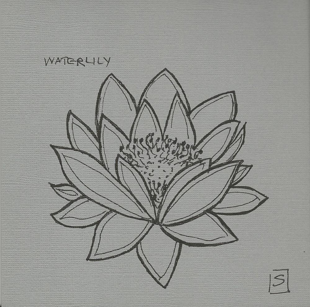 """6061 - Waterlily"" original fine art by Sea Dean"
