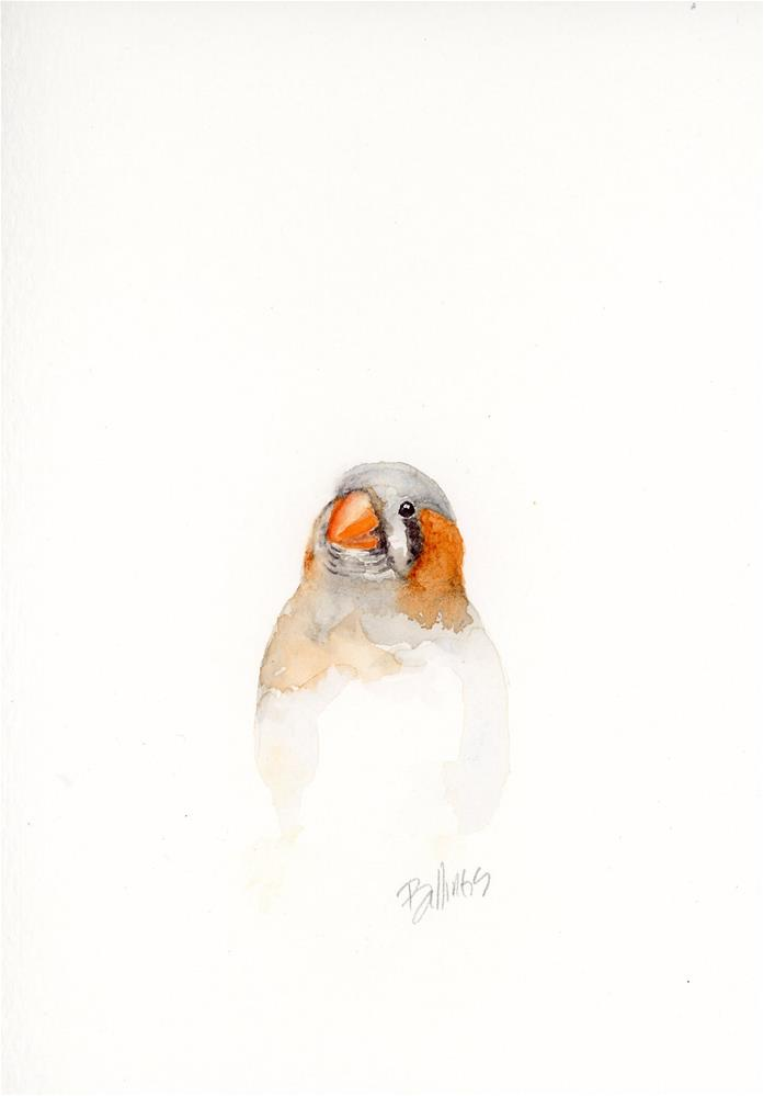 """Atticus the Finch II"" original fine art by Susanne Billings"