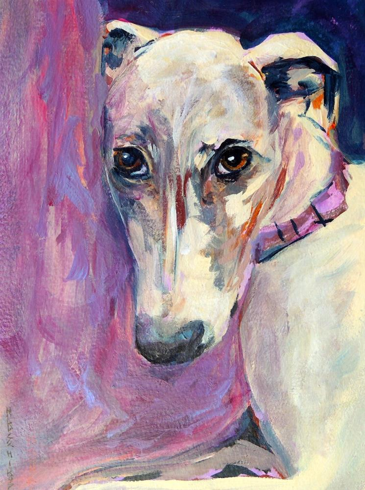 """Purple Pillow"" original fine art by Mary Schiros"