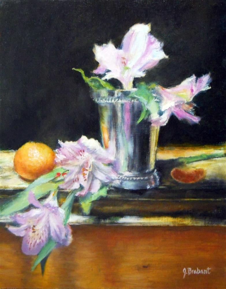 """Orange and Alstroemeria"" original fine art by Jill Brabant"