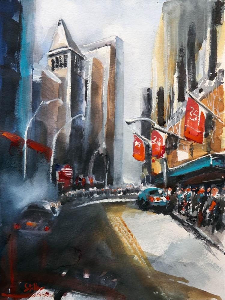 """1650 Broad Street Manhattan"" original fine art by Dietmar Stiller"