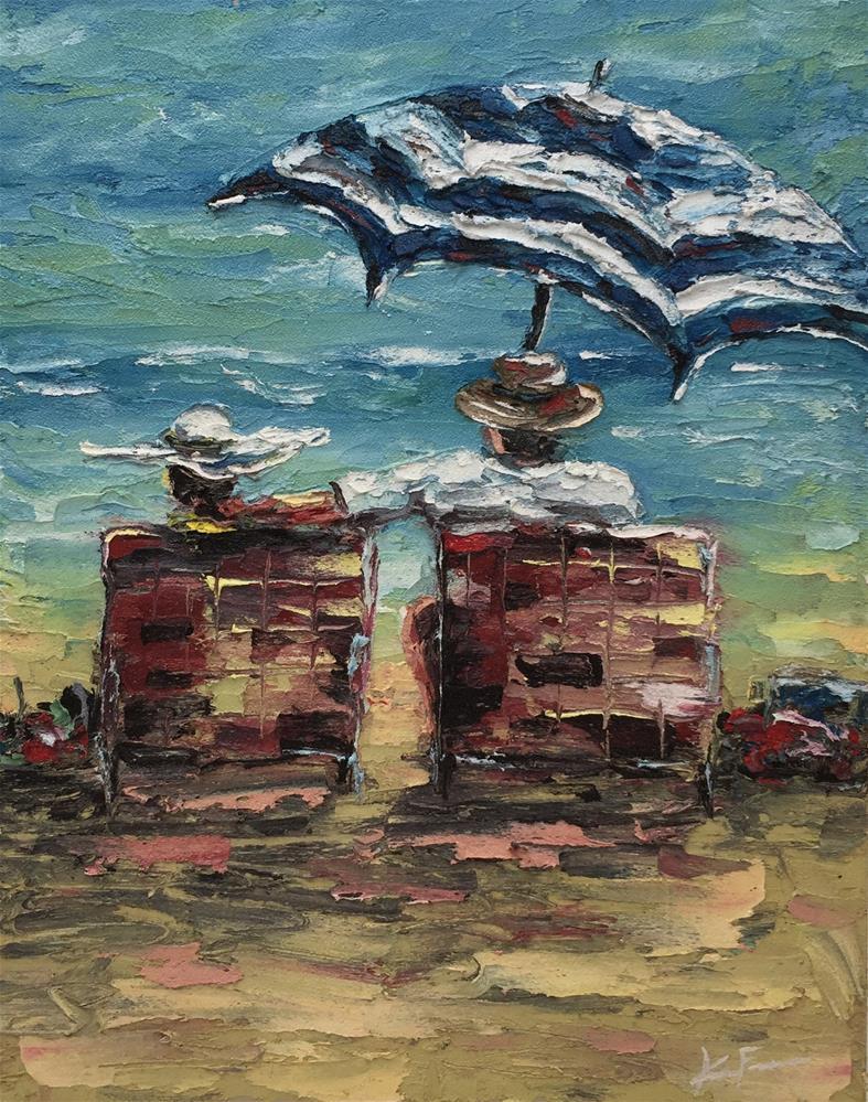 """Naples Beach Retreat"" original fine art by Ken Fraser"