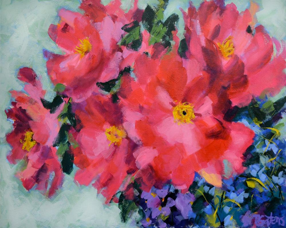 """Peonies in Red"" original fine art by Pamela Gatens"
