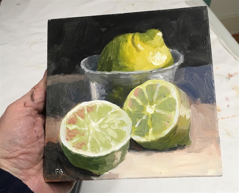 """""""206 Lemon Lime Taste Fine"""" original fine art by Fred Bell"""
