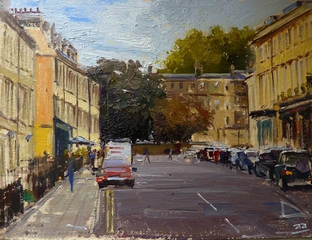 """Albert Street, Bath"" original fine art by Adebanji Alade"
