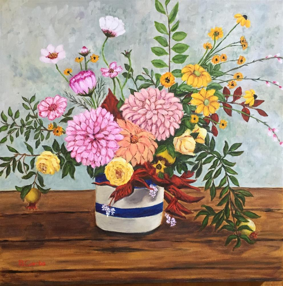 """Flower Extravaganza"" original fine art by Bebe Combs"