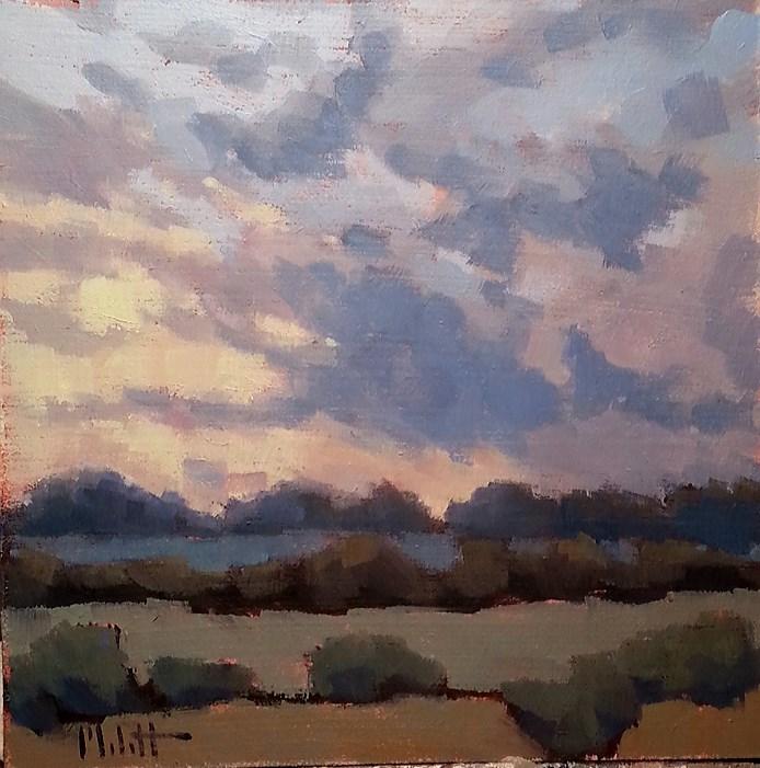 """Autumn Glow Original Oil Painting Impressionism Landscapes"" original fine art by Heidi Malott"